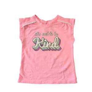 🍒3/$20🍒 Pink It's Cool to be Kind Tee 12-18M
